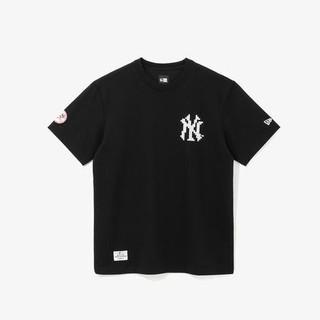 男士MLB NY 洋基队马赛克拼图宽松T恤