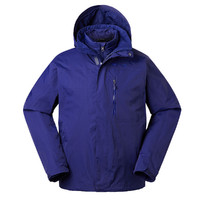 Marmot 土拨鼠 防水防风保暖透气男式可拆卸羽绒内胆三合一冲锋衣 北极蓝 L