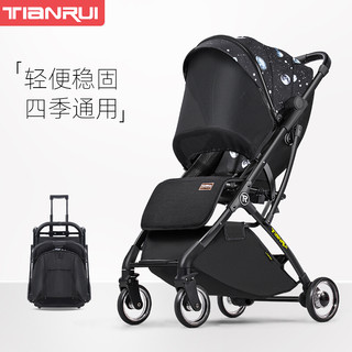 TianRui  婴儿推车轻便折叠婴儿车可坐可躺新生儿宝宝手推车高景观遛娃神器溜娃伞车 Fun5代升级版-梦幻星空