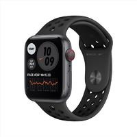 Apple Watch SE智能手表 Nike GPS+蜂窝网络款 44毫米 深空灰色铝金属表壳 煤黑配黑色运动表带 MG0A3CH/A