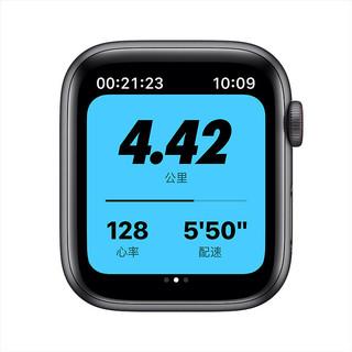 Apple 苹果 Apple Watch SE Nike GPS+蜂窝款 智能手表 44mm 深空灰色铝金属表壳 煤黑配黑色运动表带(GPS)