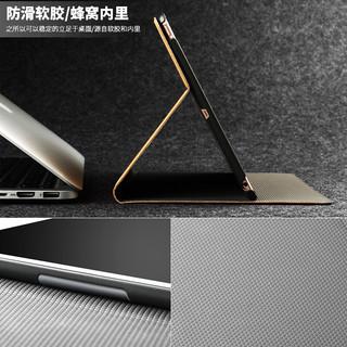 艾古iPad4保护套9.7英寸ipad3/2通用苹果平板电脑皮套新款升级轻薄防摔支架保护壳 经典轻奢款-尊享蓝