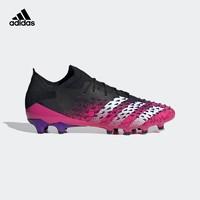 阿迪达斯PREDATOR FREAK .1 L AG男子软人造草坪足球运动鞋FZ3751 黑/红/白/紫  44