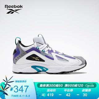 Reebok 锐步 Reebok锐步 吉克隽逸同款 新年运动经典DMX SERIES 1200男女低帮休闲鞋 H01424_白色/黑色/紫色/灰色/黄色 42