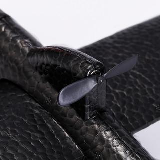 儿童DIY拼装电动手抛飞机玩具充电马达电动滑翔飞机 黑精灵 黑精灵
