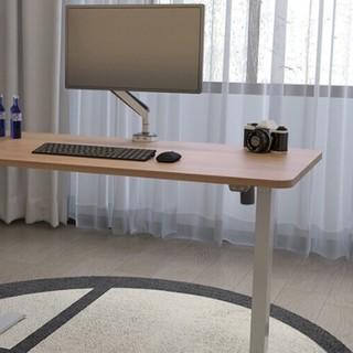 Loctek 乐歌 E2S系列 电动升降电脑桌 灰腿+1.2m直角胡桃木桌板 板厚16mm