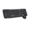 aigo 爱国者 W910 升级套装版 104键 有线薄膜键鼠套装 黑色