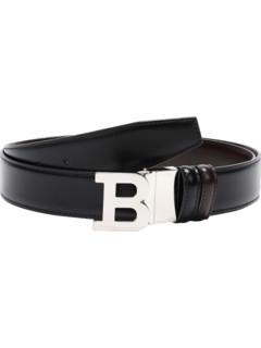 BALLY 巴利 Bally 巴利 男士牛皮板扣式双面皮带腰带 B BUCKLE 35 M