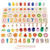 福孩儿 六合一钓鱼配对板+字母 婴儿幼儿童宝宝早教益智玩具1数字2水果认知3周岁半积木拼图男孩女孩生日礼物