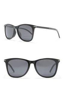 Dior 迪奥 Black Tie 55mm Rectangle Sunglasses