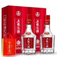 PLUS会员:WULIANGYE 五粮液 优级粮食酒 52度  500ml*2瓶装