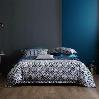 MERCURY 水星家纺 60支贡缎长绒棉四件套纯棉床单被套全棉床上用品套件