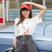 VERO MODA 3212T1049 米奇印花纯棉短袖T恤