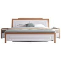 QuanU 全友 122302 现代极简欧式双人床+床头柜 1.5m