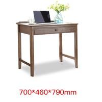 治木工坊  B-SZ03A 美式黑胡桃色红橡木电脑桌 单抽款