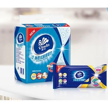 Vinda 维达 厨房湿纸巾 48片*3包
