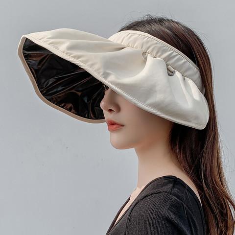 移动端:贝壳帽子女士夏天户外防紫外线遮阳帽