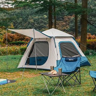 MOBI GARDEN 牧高笛  户外露营零动家庭用大空间自动3-4人速开搭建凉亭帐篷 EX19561004 蓝色