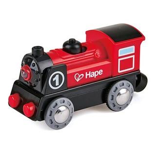 Hape 德国()儿童玩具男孩玩具女孩火车头益智玩具3-6-9岁电力驱动电动1号火车宝宝节日生日礼物 3岁+ E3703