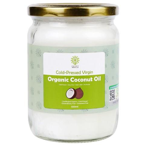 椰子奇迹(Coconut Miracle)初榨有机椰子油500ml 斯里兰卡原装进口 食用油炒菜烘焙