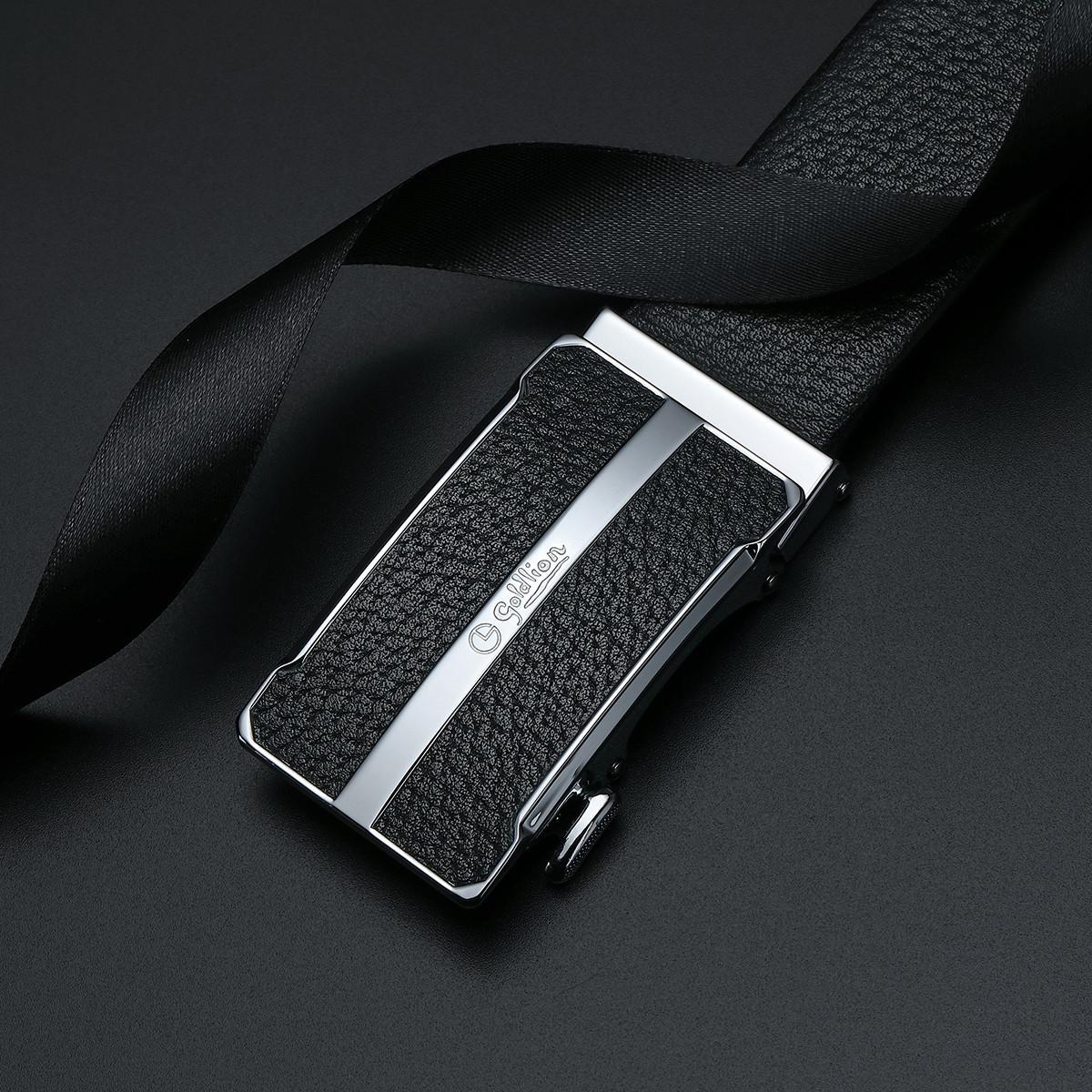 goldlion 金利来 FAY012066-311 男士时尚拼接自动扣皮带