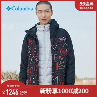 Columbia 哥伦比亚 哥伦比亚户外20秋冬新品男子热能防水三合一夹克休闲服外套WE1155