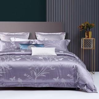 MERCURY 水星家纺 欧式轻奢亲肤大提花四件套床单被套床上用品套件
