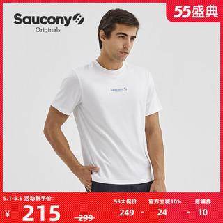 saucony 索康尼 Saucony索康尼2021新款夏季官方正品男经典时尚短袖休闲百搭T恤男