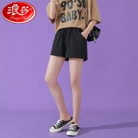 Langsha 浪莎 1024 女士棉麻短裤