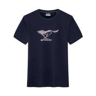 SEPTWOLVES 七匹狼 1D1B30602016 男士基础圆领T恤