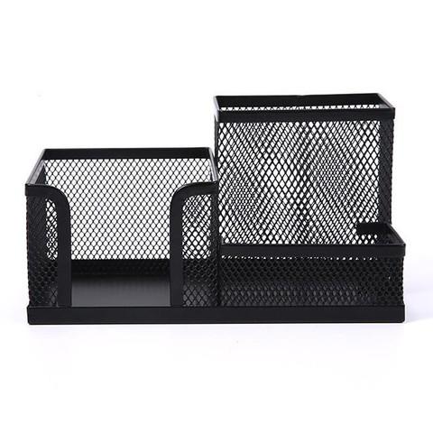 M&G 晨光 晨光(M&G)黑色金属网状三格组合多功能桌面收纳笔筒 ABT98448