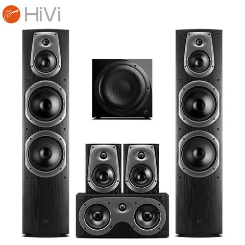 HiVi 惠威 惠威 (HiVi) D60HT Sub10G 家庭影院音箱套装 5.1声道hifi木质落地式客厅KTV电视音响组合