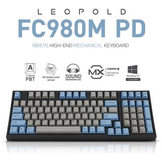 Leopold 利奥博德 FC980M灰白PD石墨青灰蓝十周年 有线机械键盘