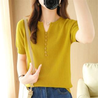 YALU 雅鹿 YY-NJR-21105 女士宽松针织T恤