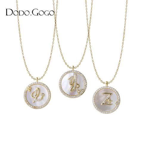 字母项链2021年新款女925纯银轻奢小众设计感闺蜜毛衣链生日礼物