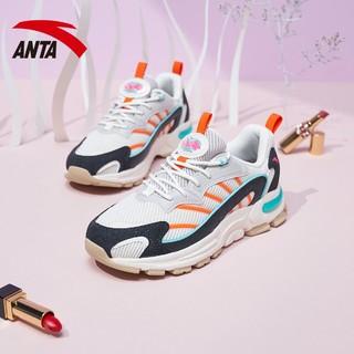 ANTA 安踏 安踏女鞋2021春季新款休闲鞋时尚潮流运动鞋百搭跑步鞋鞋子