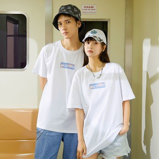 Semir 森马 森马旗下爱肯韩版潮流字母印花T恤男士短袖T恤
