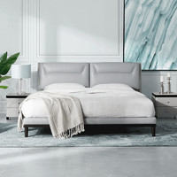 KUKa 顾家家居 B890 现代简真皮床1.8M 常规款+M0001C床垫