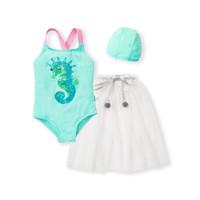 balabala 巴拉巴拉  女童公主裙式连体泳衣