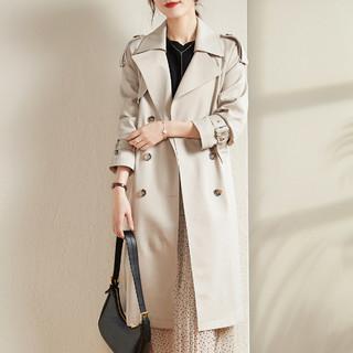 索菲丝尔 风衣女中长款英伦风2021春装新款流行气质工装小个子春秋外套