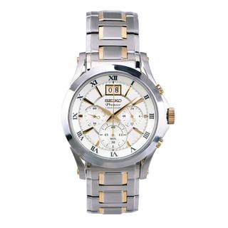 SEIKO 精工 Seiko精工Premier系列石英大日历显示计时男士手表