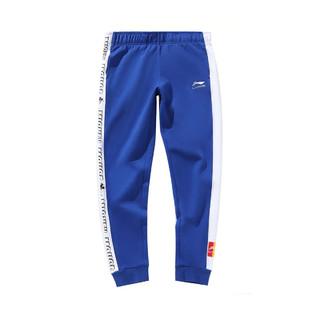 LI-NING 李宁 复古运动米奇 女式休闲裤子AKLP416条纹字母运动裤女裤
