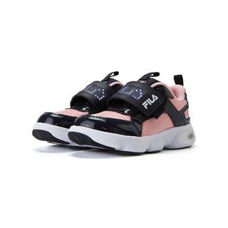 FILA 斐乐 女中小童(26-32)女童鞋舒适方便魔术贴运动休闲鞋儿童跑鞋