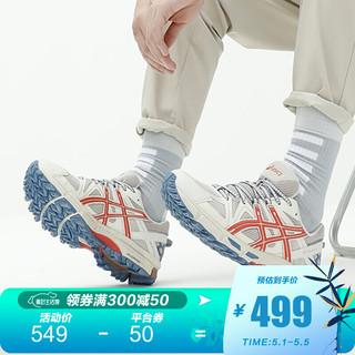 ASICS 亚瑟士 ASICS/亚瑟士男士跑鞋抓地稳定越野鞋 GEL-KAHANA 8 1011B109 浅褐色/红色 42