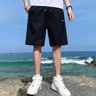 Glemall 哥来买 短裤男士夏季潮流宽松休闲运动中裤子薄款潮牌外穿