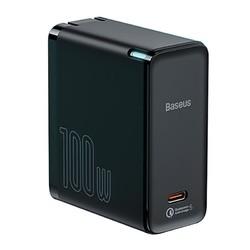 BASEUS 倍思 倍思100W氮化镓充电器GaN快充插头适用于iphone12手机充电头双Typec+双USB苹果pd闪充macbook笔记本电脑100w