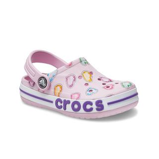 Crocs 卡骆驰 卡骆驰童鞋洞洞鞋男童女童凉鞋夏夏季新款小中大童印花拖鞋