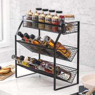 LIUDIAN LIFE 柳点生活 厨房置物架不锈钢调料调味品收纳架台面壁挂架子神器用品家用大全