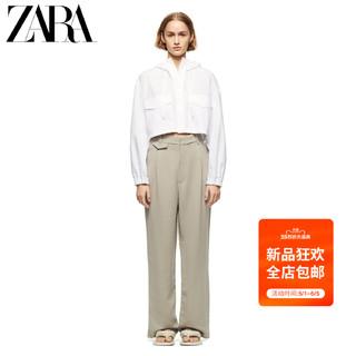 ZARA  新款 TRF 女装 打褶装饰宽腿裤 07385472519