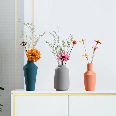 Hoatai Ceramic 华达泰陶瓷 花瓶花艺套装 E款 灰色